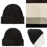新品タグ付き★Maison Margiela メゾンマルジェラ ビーニー 四つタグ デザインリブ ニット帽 ニットキャップ