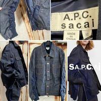 新品21SS★ A . P . C . X SACAI アーペーセー サカイ コラボ スウェットシャツ トレーナー Lサイズ オーバーサイズ