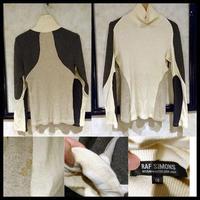 貴重★ユーズド 2004-2005AW★RAF SIMONS ラフシモンズ セーター 46サイズ ホワイト