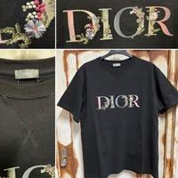 国内完売品!新品★DIOR FLOWERS ディオール ブランドロゴ 刺繍 スウェット 半袖シャツ オーバーサイズ