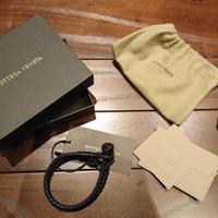 新品タグ付き★BOTTEGA VENETA ボッテガヴェネタ イントレチャート ブレスレット 腕輪 フリーサイズ ブラック
