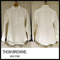 中古★THOM BROWNE トムブラウン×barneys New York キルティング シャツ 0サイズ ホワイト