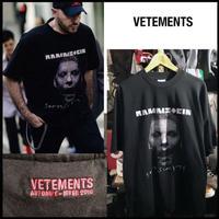 新品タグ付★17AW★VETEMENTS ヴェトモン ラムシュタイン オーバーサイズ Tシャツ XSサイズ