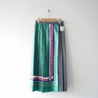 2018AW / MACPHEE ポリエステルスカーフプリント アシンメトリースカート 1905-0677