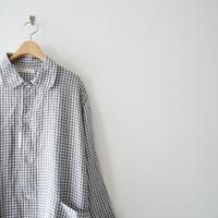 2019 / nest robe別注 fog×nest robe 襟付きジャケット ギンガムリネン 1908-1563