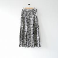 2018AW未使用 / YLEVE / モノトーンプリント プリーツスカート /  2010-0592