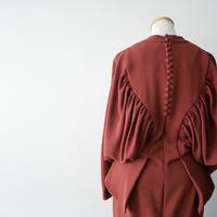 2018AW  / Mame Kurogouchi / Vネックバックギャザーワンピース /  2006-0250