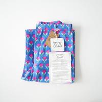 2020 未使用 / SZ Blockprints / ディスコパンツ Pants in Gaze Blue & Hot Rose Waterlily Print /  20010-1544
