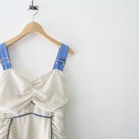 Estella.K / Dot Trimming Midi Dress /  2105-0126