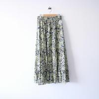 2020AW今季 未使用 / KALANCHOE / Cotton Silk Print Tiered Skirt / ne quittez pas購入品 2012-0467