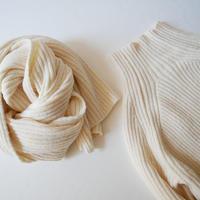 2019AW今季 / SPICK&SPAN購入品 MIJEONG PARK スカーフ付きリブ編みニットトップ  1910-0589