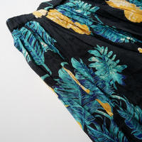 2018SS / SPICK&SPAN オオバナプリントギャザースカート