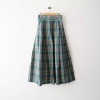 2020SS  / Scye / CottonLinenPlaidMaxiL/Skirt /  2007-0965