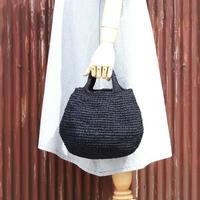 まんまるバッグ (裂き編みバッグ)