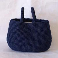 裂き編みバッグ 横長サイズ 【取り外し可】フェイクファー付き