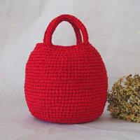 まんまるバッグ Bタイプ(裂き編みバッグ)
