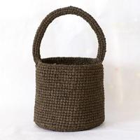 裂き編みバッグ 取り外せるファー付きバッグ(バケツ型)