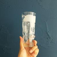 Finland karhu beer glass 330ml white