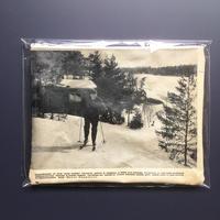 Finland old paper pouch「ski  L」