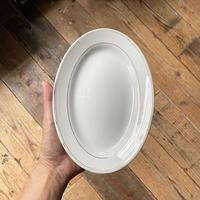 arabia  oval plate gold line