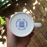 arabia teema mug blue logo