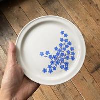 arabia Mesimarja blue flower plate 17cm