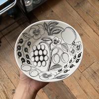 arabia black paratiisi oval  bowl