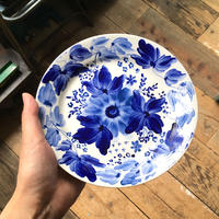 old arabia blue flower PLATE