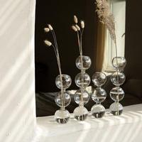 flowervase-09003 ガラス バブル型 フラワーベース 3連  4連