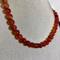 【大粒】メノウ 瑪瑙 アゲート 丸珠 ネックレス 天然石 パワーストーン 本物