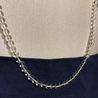 【水晶】丸珠 クリスタル 天然石 パワーストーン 留め具 18金 ネックレス