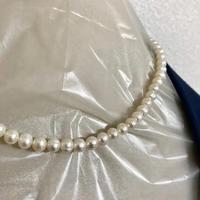 【バロック真珠】本真珠 ネックレス 天然 パール 本物 留め具 シルバー 未使用品