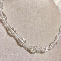 【水晶】クリスタル 天然石 パワーストーン デザインネックレス 留め具 シルバー