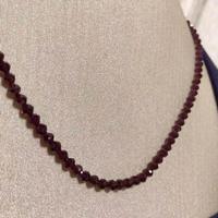 【ガーネット】天然石 ざくろ石 ネックレス 18金 ホワイトゴールド 未使用品