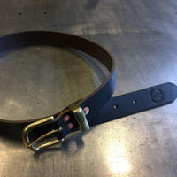 REW10 LEATHERS RIVETED BELT    HORWEEN CHROMEXCEL BLACK