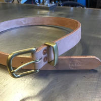 REW10 LEATHERS RIVETED BELT NATURAL