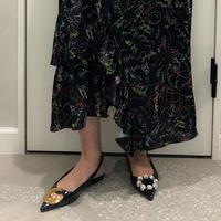 enamel jewel shoes