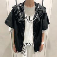 frill parker tops (black)
