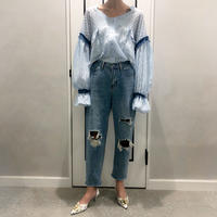 high  waist damage denim