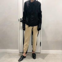 buycolor pants (beige × black)