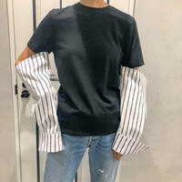 cutting long sleeve tshirt (black)