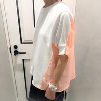 switching tshirt (white × orange)