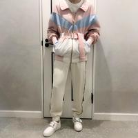 sporty line blouson (pink)