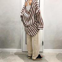 stripe over size set up(shirt)