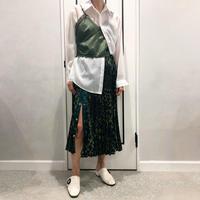 leopard pleats skirt (kahaki)