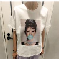 hepburn tshirt (white)