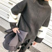 fur slleve tops(black)