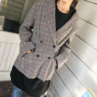 big silhouette check jacket