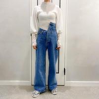 asymmetry denim pants