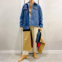 unique design denim long outer